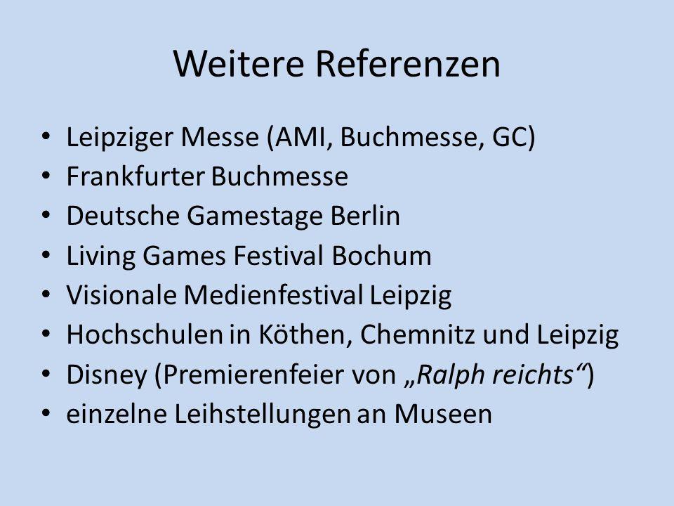 Weitere Referenzen Leipziger Messe (AMI, Buchmesse, GC)