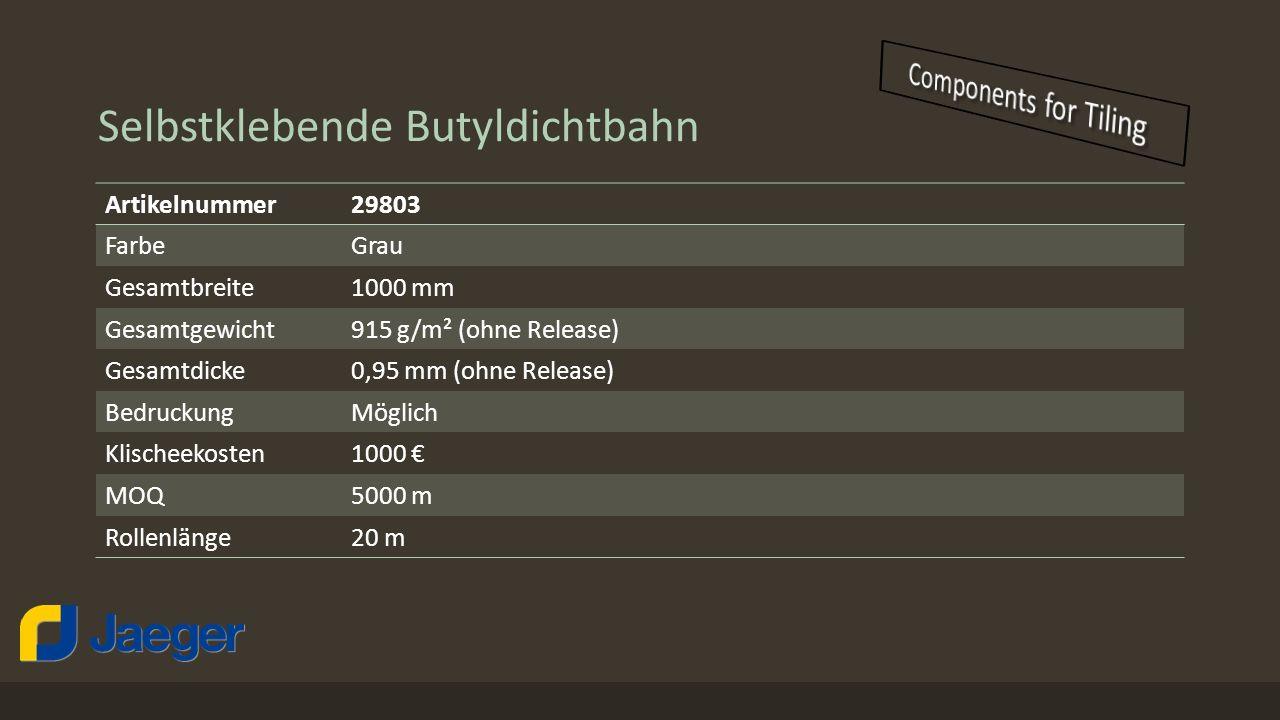 Selbstklebende Butyldichtbahn