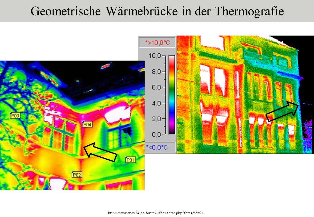 Geometrische Wärmebrücke in der Thermografie