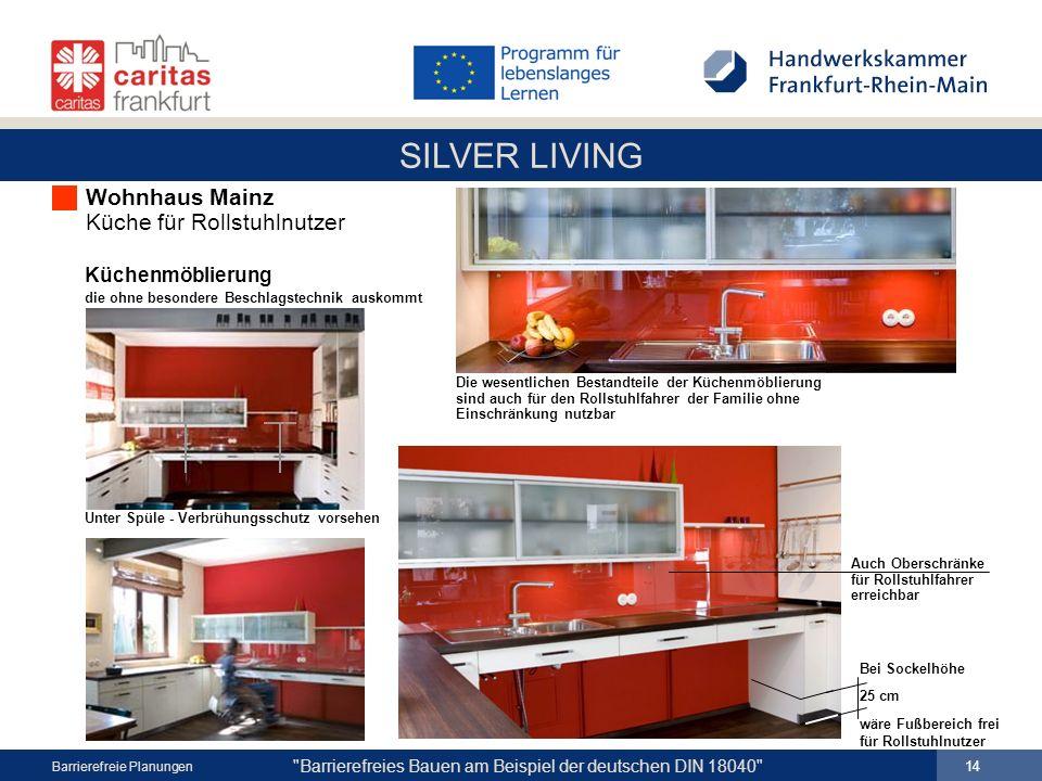 Wohnhaus Mainz Küche für Rollstuhlnutzer