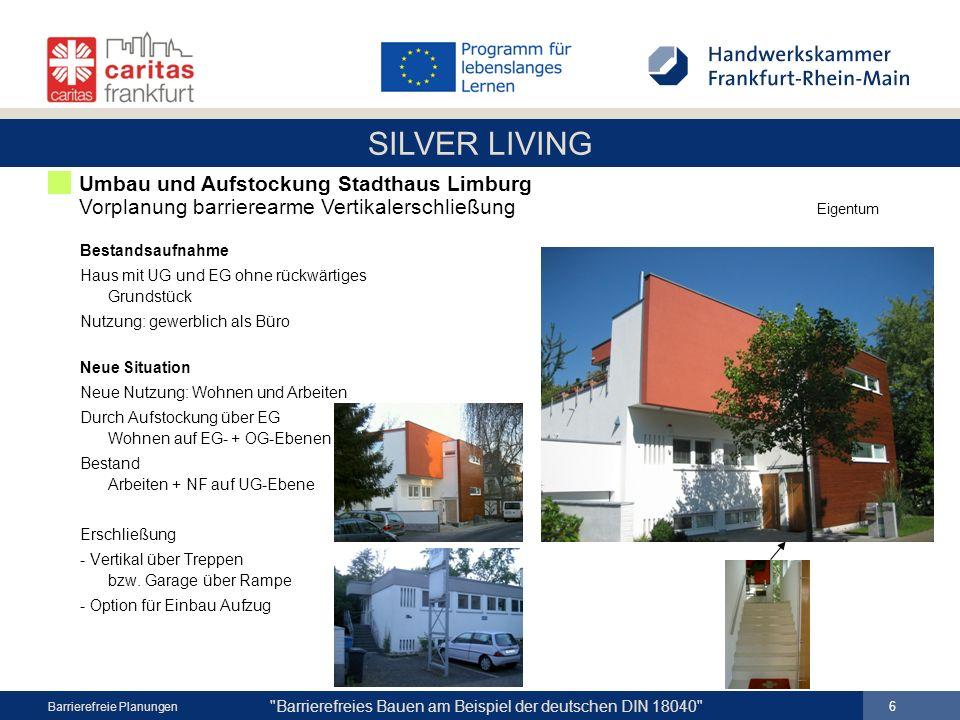 Umbau und Aufstockung Stadthaus Limburg Vorplanung barrierearme Vertikalerschließung Eigentum