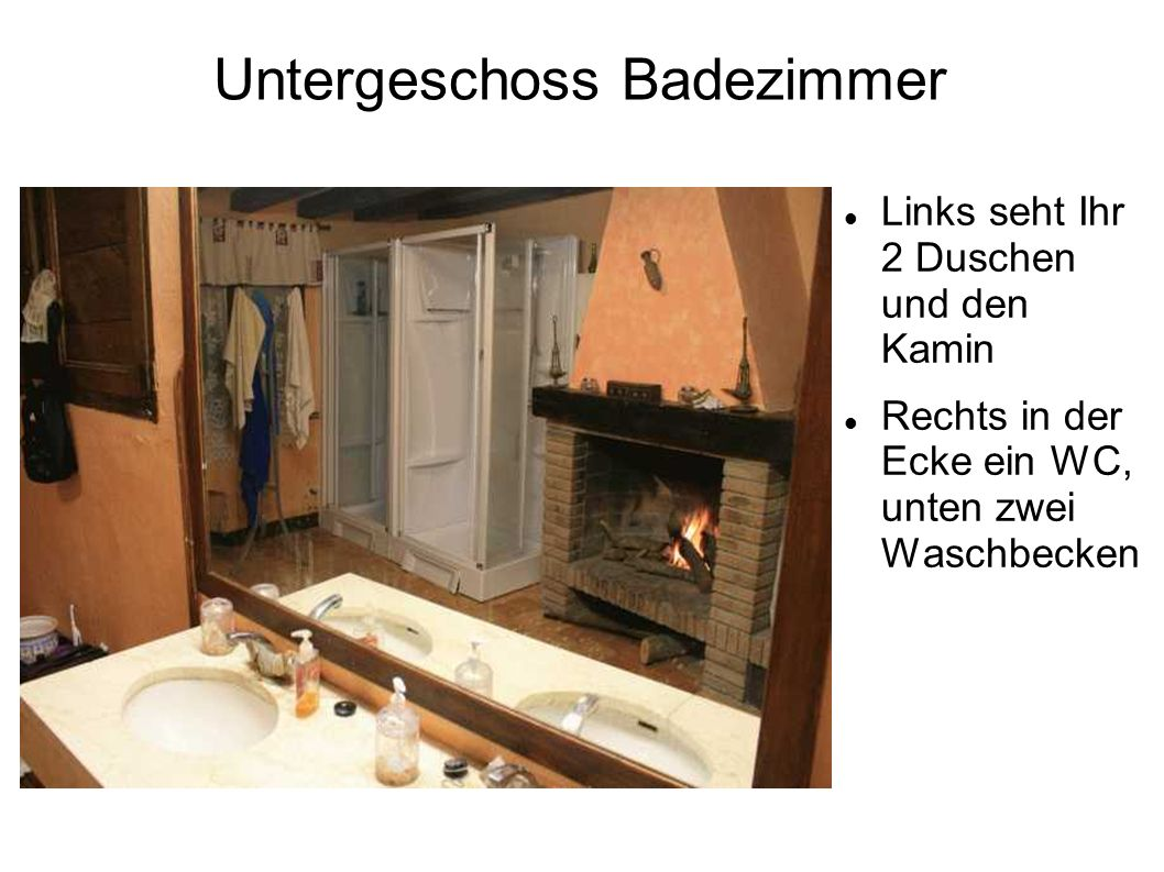 Untergeschoss Badezimmer
