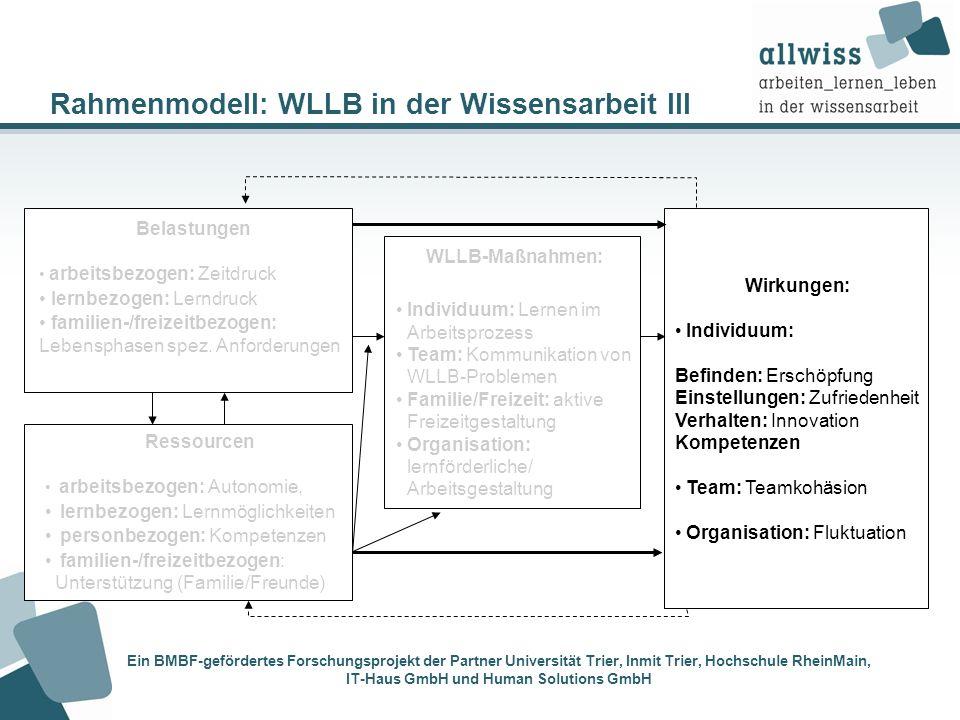 Rahmenmodell: WLLB in der Wissensarbeit III