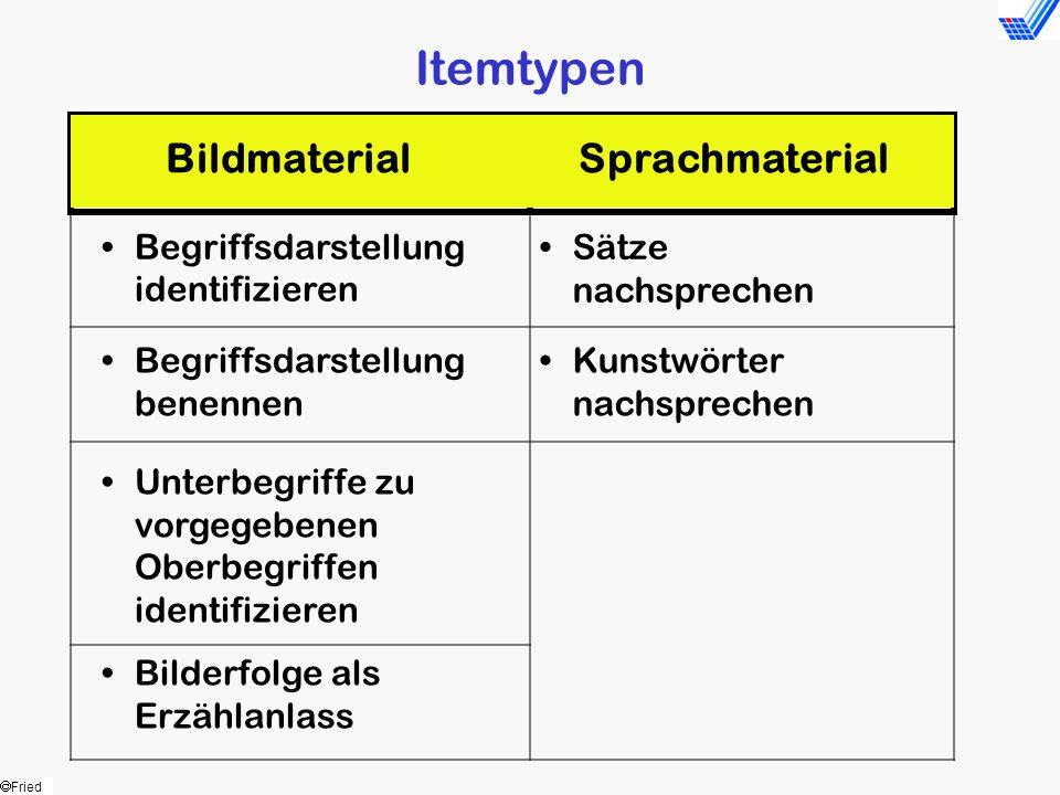 Itemtypen Bildmaterial Sprachmaterial