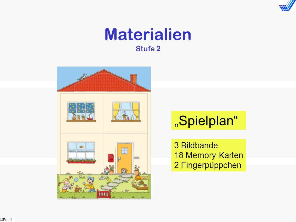 "Materialien Stufe 2 ""Spielplan 3 Bildbände 18 Memory-Karten"