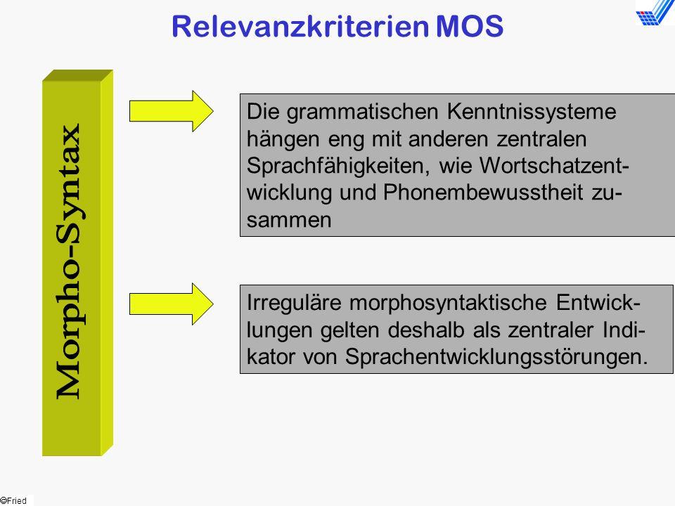 Relevanzkriterien MOS