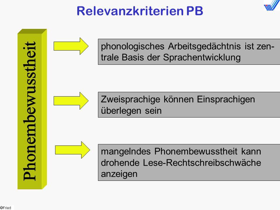 Relevanzkriterien PB Phonembewusstheit
