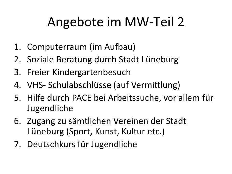 Angebote im MW-Teil 2 Computerraum (im Aufbau)