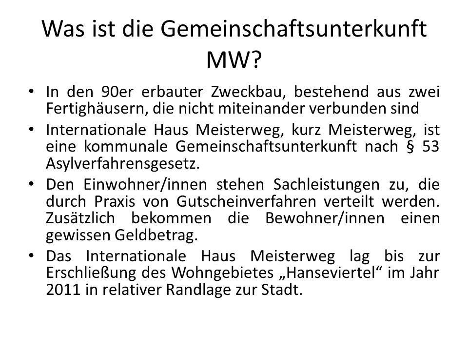 Was ist die Gemeinschaftsunterkunft MW