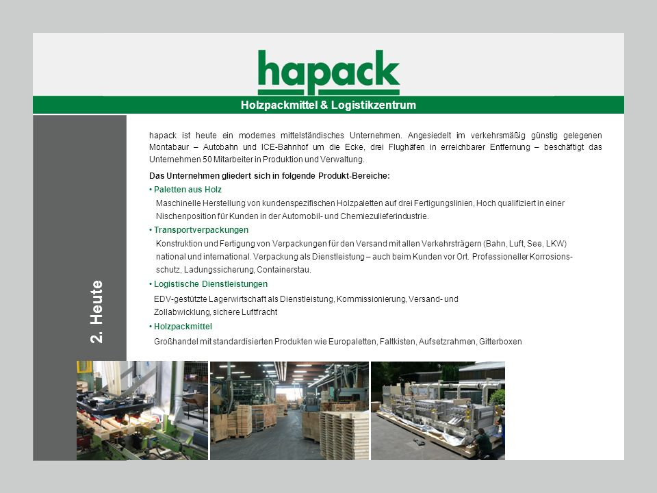 Holzpackmittel & Logistikzentrum
