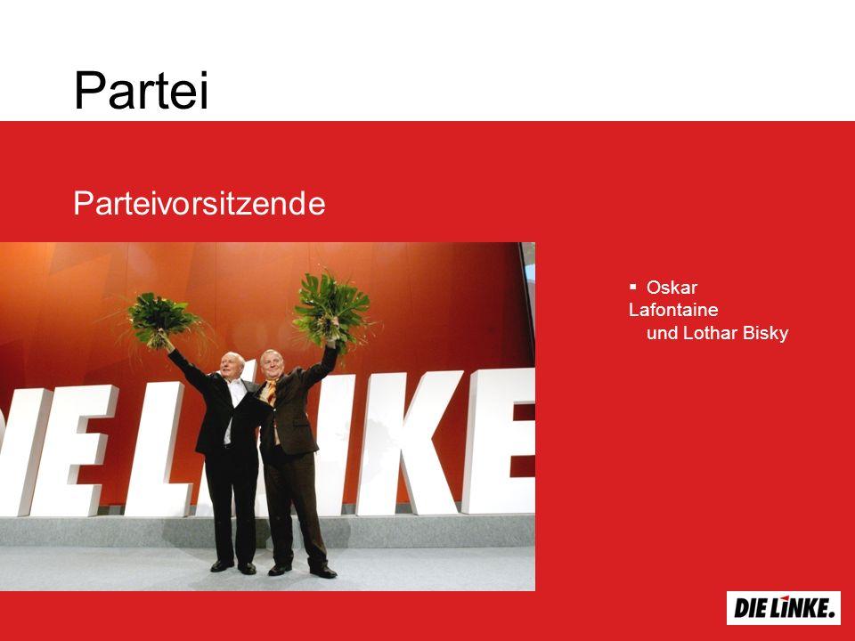 Partei Parteivorsitzende Oskar Lafontaine und Lothar Bisky