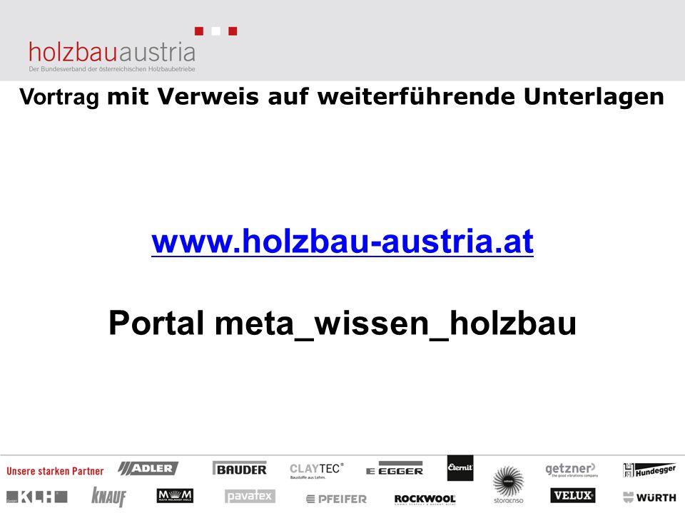 www.holzbau-austria.at Portal meta_wissen_holzbau