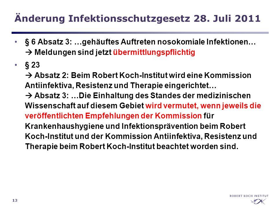 Änderung Infektionsschutzgesetz 28. Juli 2011