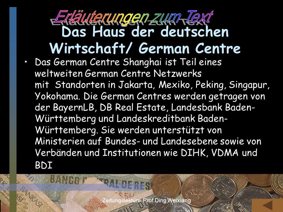 Das Haus der deutschen Wirtschaft/ German Centre