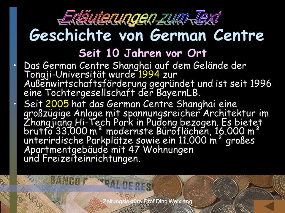 Geschichte von German Centre