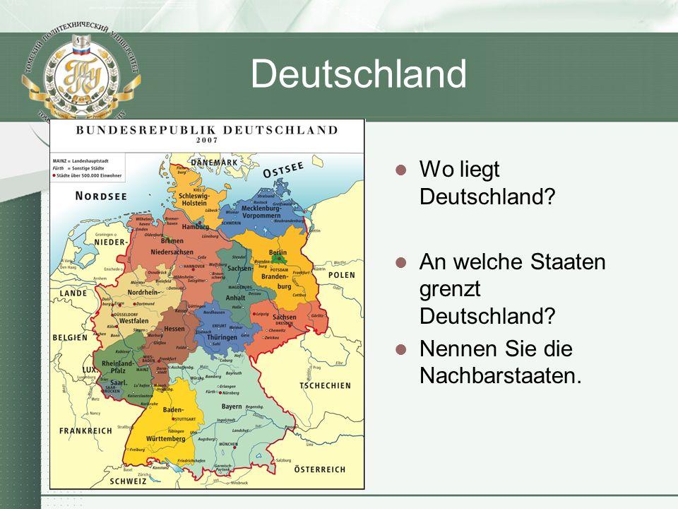 Deutschland Wo liegt Deutschland