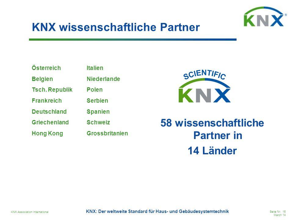 KNX wissenschaftliche Partner