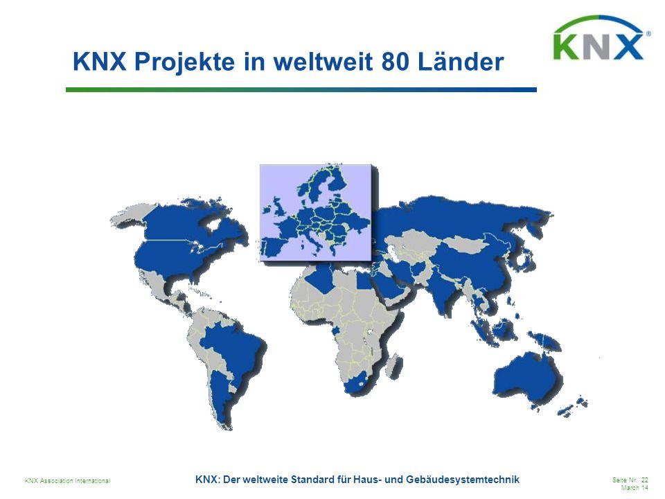 KNX Projekte in weltweit 80 Länder