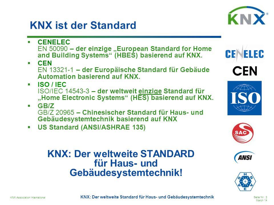 KNX: Der weltweite STANDARD für Haus- und Gebäudesystemtechnik!