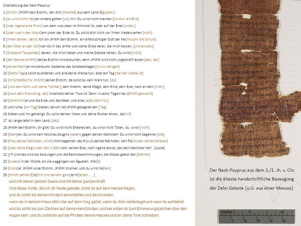 Der Nash-Payprus aus dem 2./1. Jh. v. Chr.