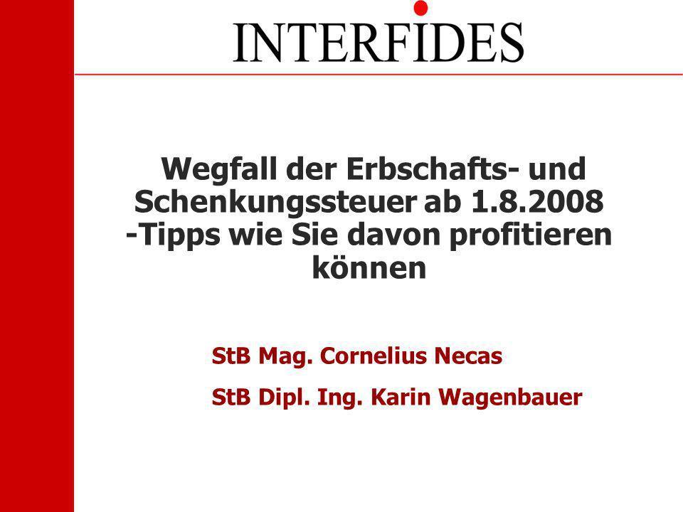 StB Mag. Cornelius Necas StB Dipl. Ing. Karin Wagenbauer