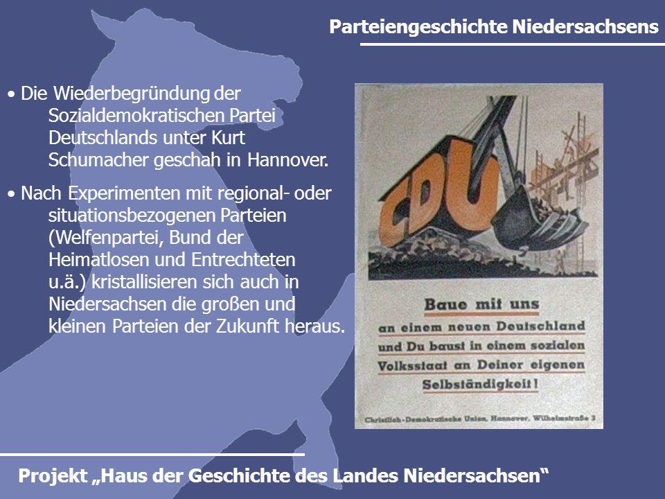 Parteiengeschichte Niedersachsens