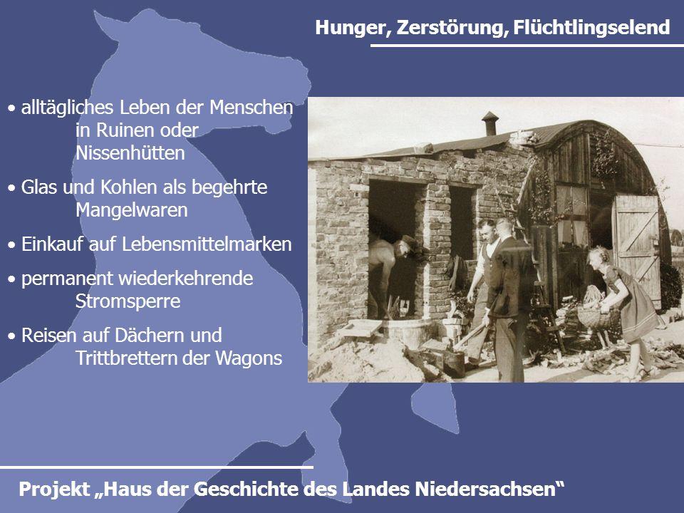 Hunger, Zerstörung, Flüchtlingselend