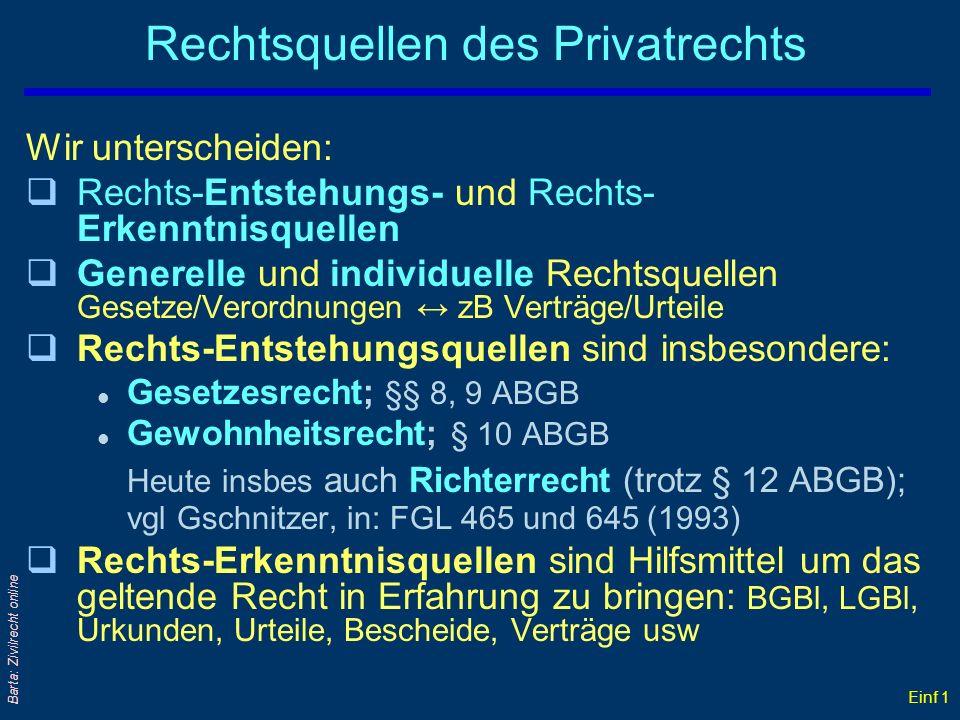 Rechtsquellen des Privatrechts