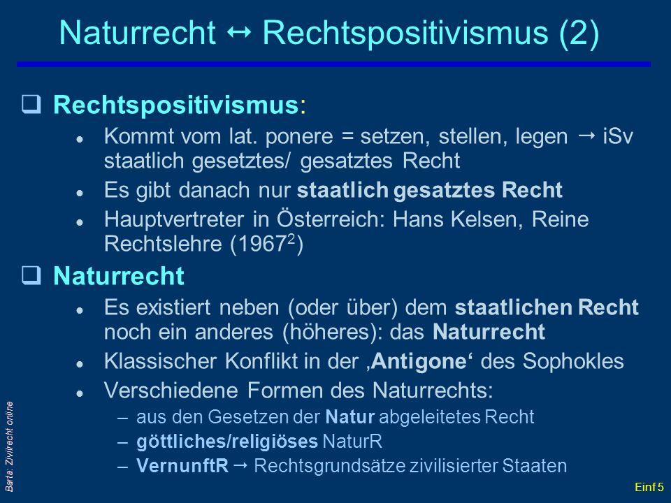 Naturrecht  Rechtspositivismus (2)