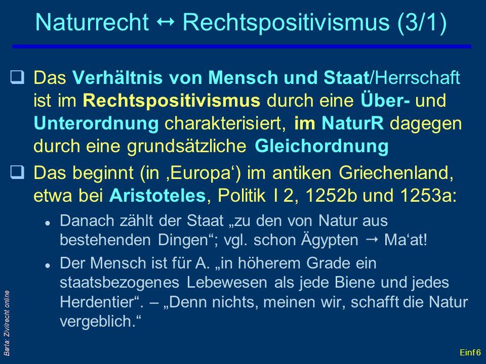 Naturrecht  Rechtspositivismus (3/1)