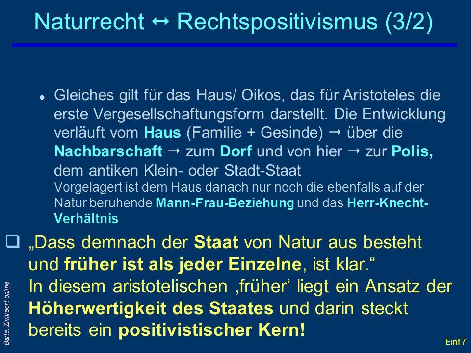 Naturrecht  Rechtspositivismus (3/2)