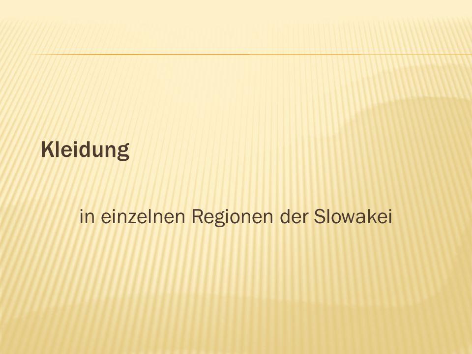 in einzelnen Regionen der Slowakei