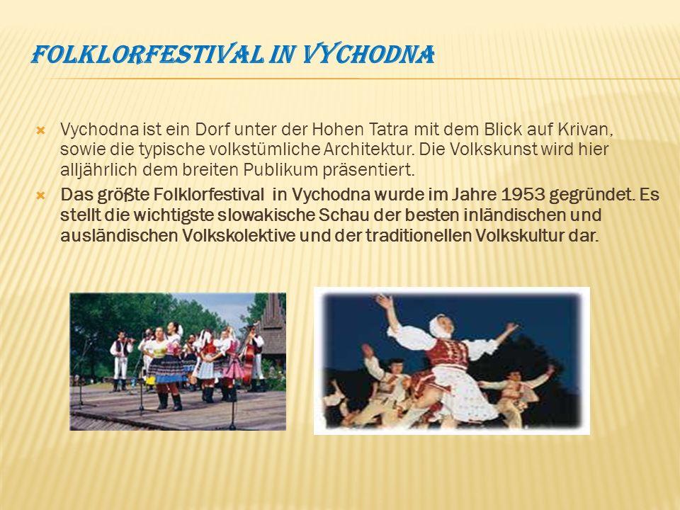 Folklorfestival in Vychodna