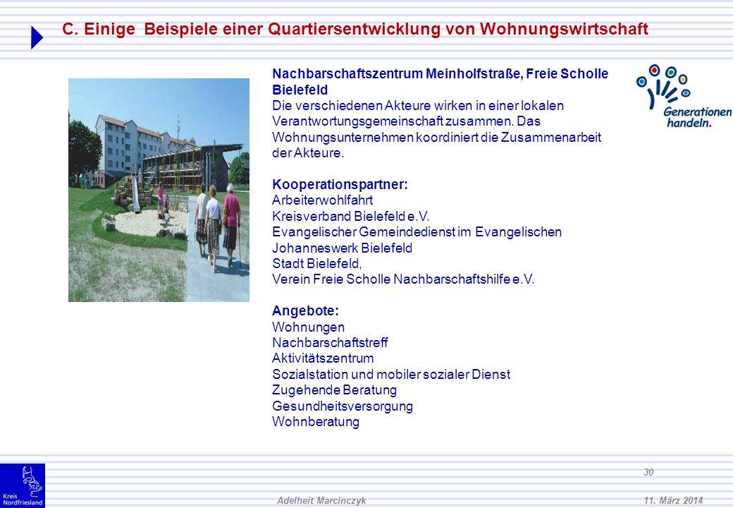 C. Einige Beispiele einer Quartiersentwicklung von Wohnungswirtschaft