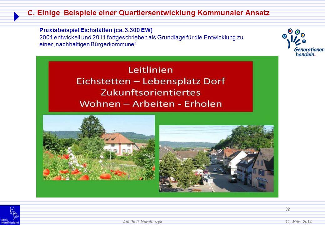 C. Einige Beispiele einer Quartiersentwicklung Kommunaler Ansatz