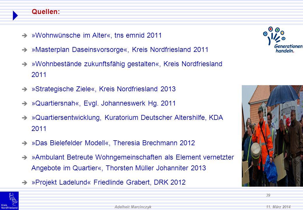 »Wohnwünsche im Alter«, tns emnid 2011