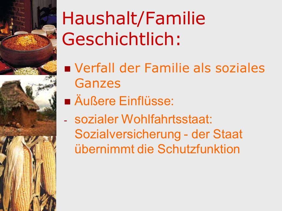 Haushalt/Familie Geschichtlich: