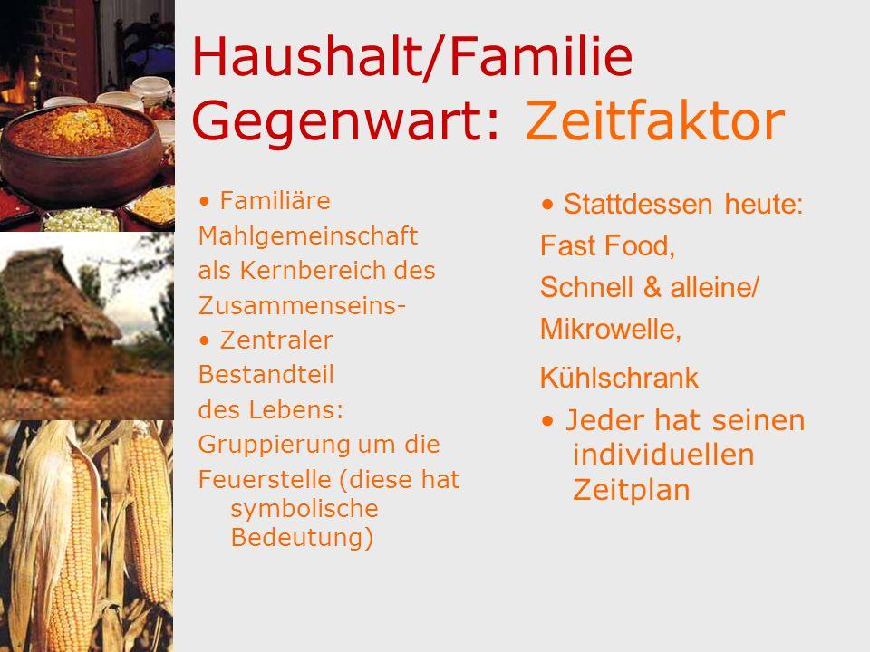 Haushalt/Familie Gegenwart: Zeitfaktor