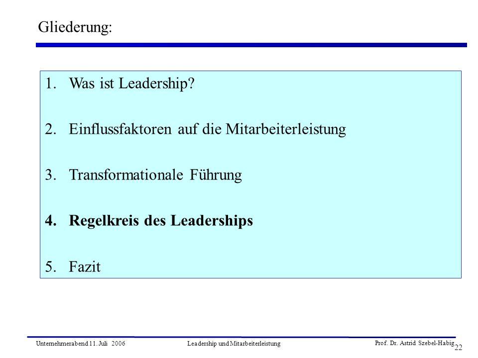 Leadership und Mitarbeiterleistung