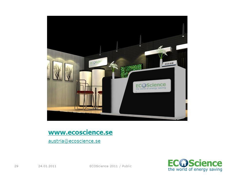 www.ecoscience.se austria@ecoscience.se 24.01.2011