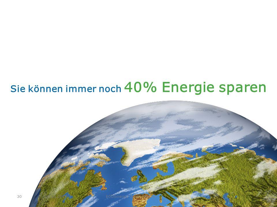 Sie können immer noch 40% Energie sparen