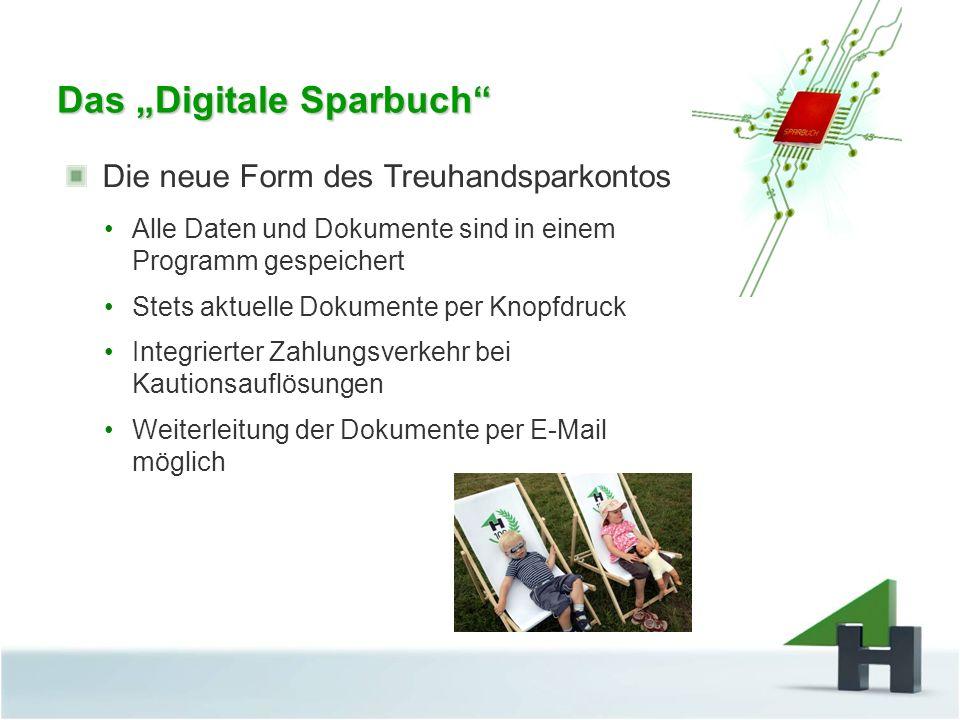 "Das ""Digitale Sparbuch"