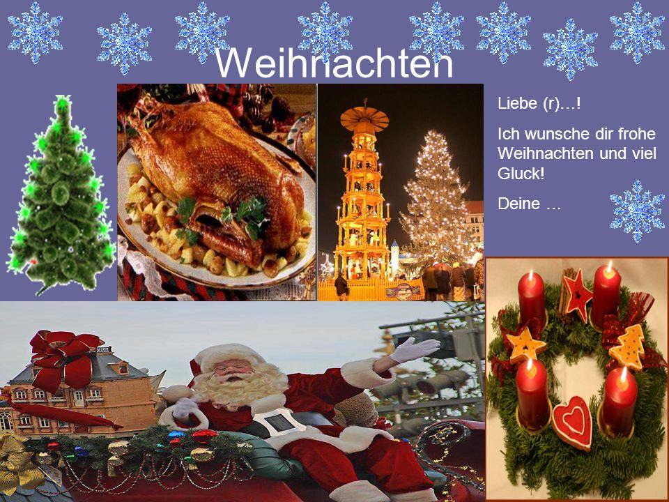 Weihnachten Liebe (r)…!