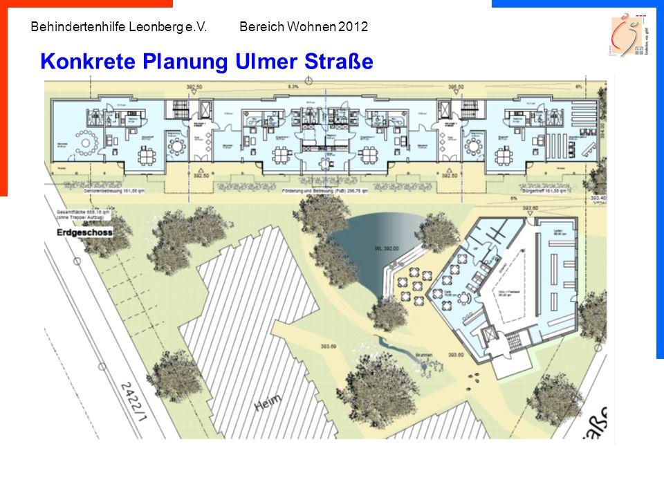 Konkrete Planung Ulmer Straße