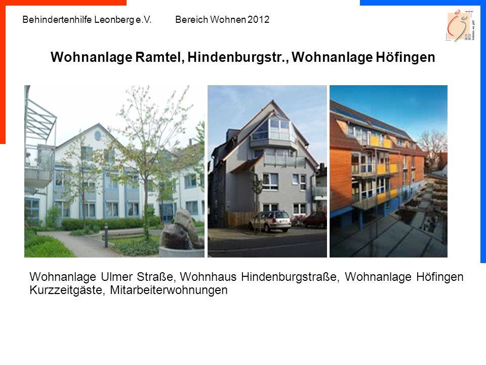 Wohnanlage Ramtel, Hindenburgstr., Wohnanlage Höfingen