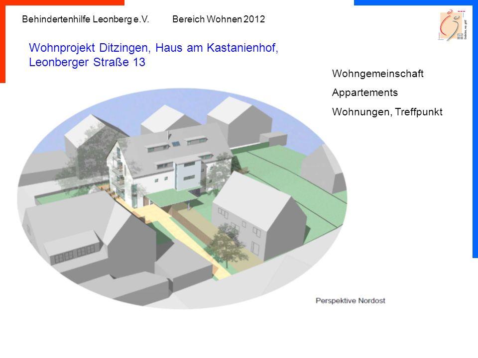 Wohnprojekt Ditzingen, Haus am Kastanienhof, Leonberger Straße 13