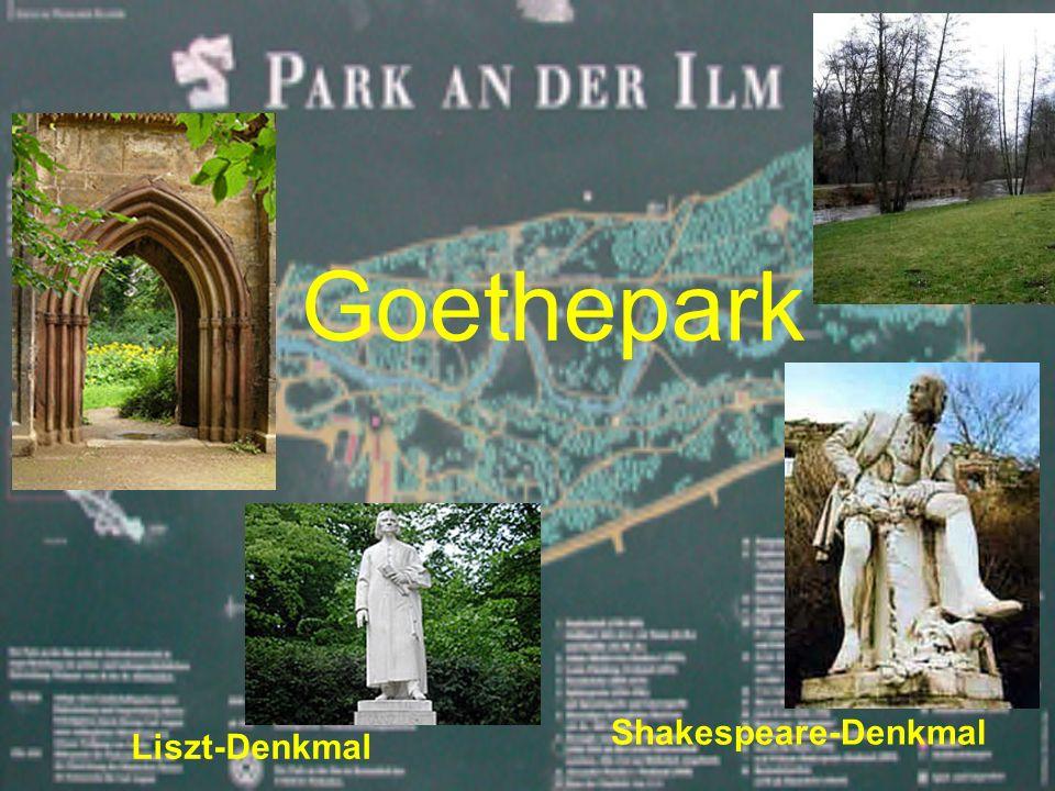 Goethepark Shakespeare-Denkmal Liszt-Denkmal