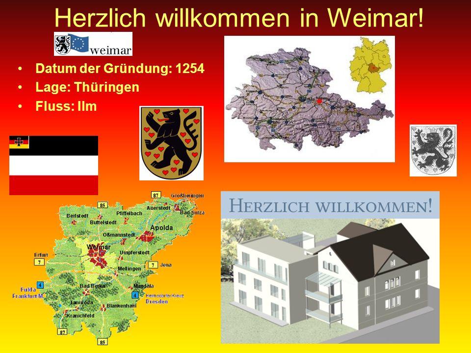 Herzlich willkommen in Weimar!