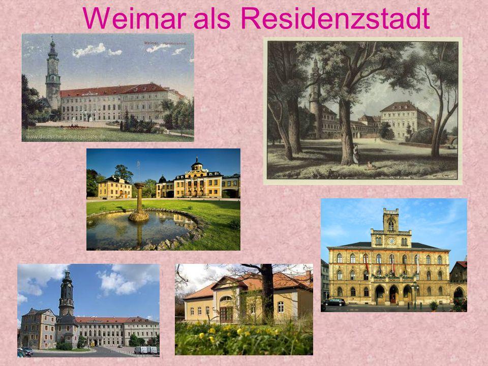 Weimar als Residenzstadt