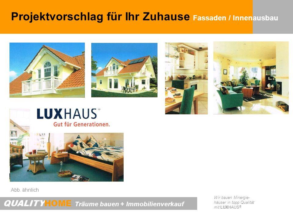 Projektvorschlag für Ihr Zuhause Fassaden / Innenausbau
